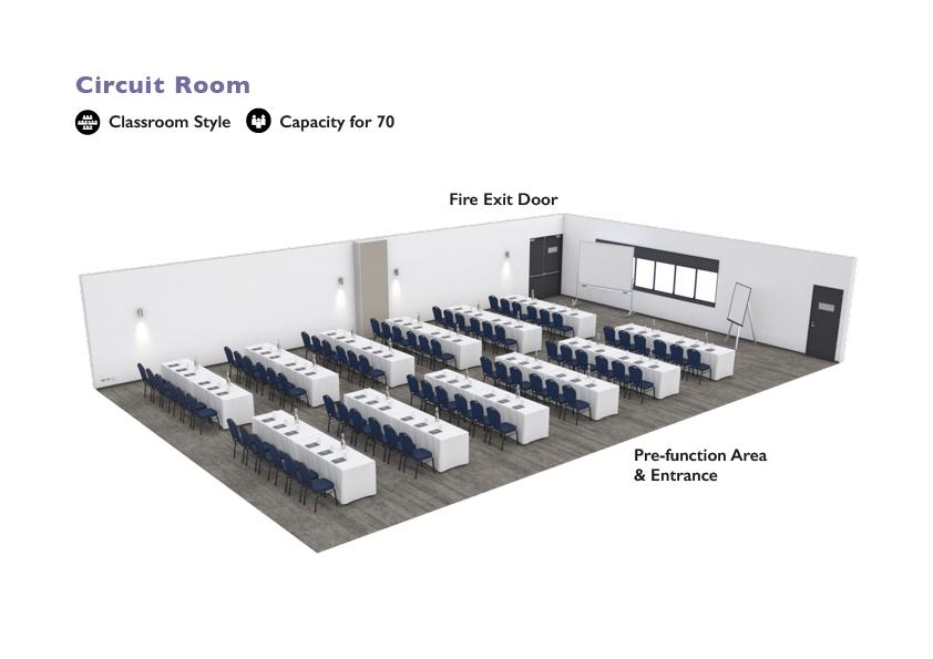 Alpha Hotel Eastern Creek - Circuit Room - Classroom Style
